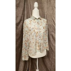 Flowery and Flowy TopShop Blouse